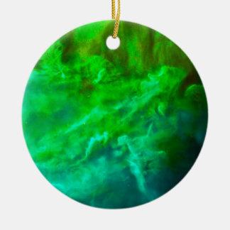 Cooler Lagune-Nebelfleck Keramik Ornament