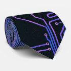 Cooler Leiterplatte-Computer-blaues Lila Krawatte