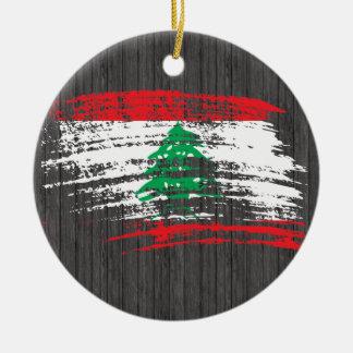Cooler libanesischer Flaggenentwurf Keramik Ornament