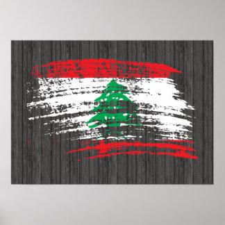 Cooler libanesischer Flaggenentwurf Poster