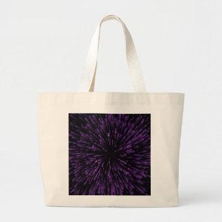 Cooler lila Explosions-Entwurf Jumbo Stoffbeutel
