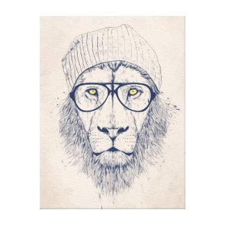 Cooler Löwe Leinwand Drucke