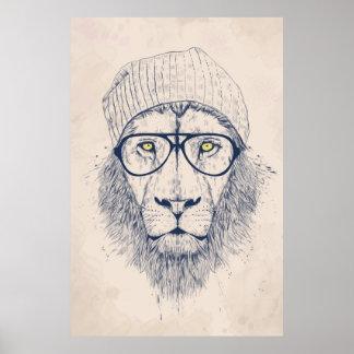 Cooler Löwe Poster