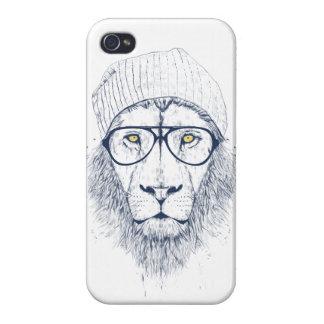 Cooler Löwe (weiß) Etui Fürs iPhone 4