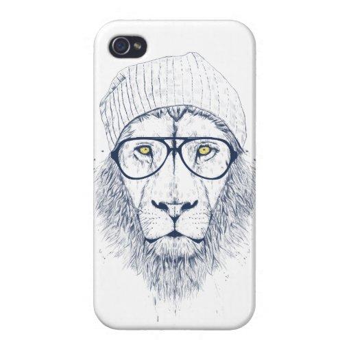 Cooler Löwe (weiß) iPhone 4 Etui