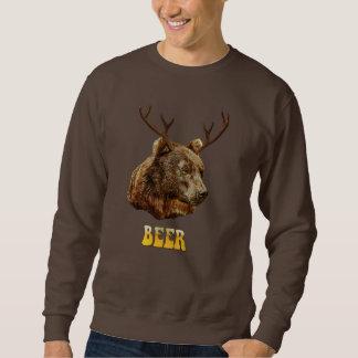 Cooler lustiger Bier-Rotwild-Bär mit Sweatshirt