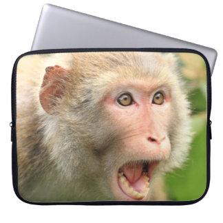 Cooler Macaque-Affe der Hong- Kongtier-Natur Laptop Sleeve