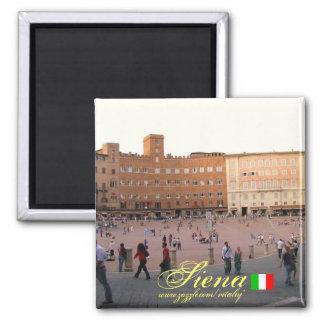 Cooler Magnetentwurf Siena Italien Quadratischer Magnet