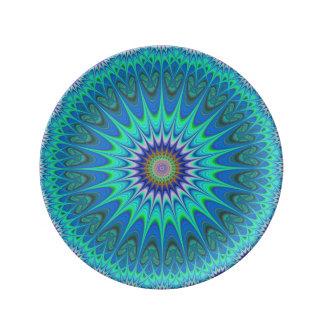 Cooler Mandala Porzellanteller