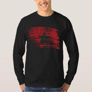 Cooler marokkanischer Flaggenentwurf T-Shirt