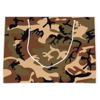 Cooler moderner Tarnungs-Camouflage-Entwurf Große Geschenktüte