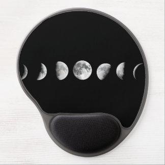 Cooler Mond teilt Gel Mousepad in Phasen ein