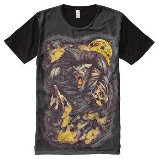 Cooler Mörderwerewolf-dunkle Horror-Kunst T-Shirt Mit Bedruckbarer Vorderseite