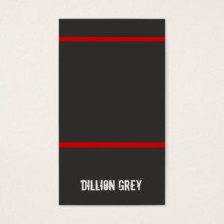 Cooler Musiker-schwarze und rote Geschäfts-Karte Visitenkarten