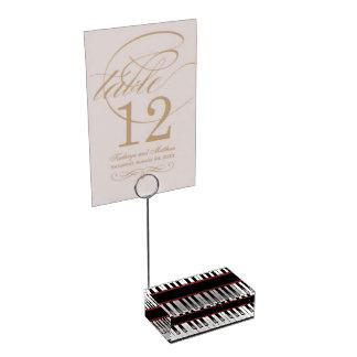 Cooler Musikliebhaber-Klaviertabellen-Kartenhalter Platzkartenhalter