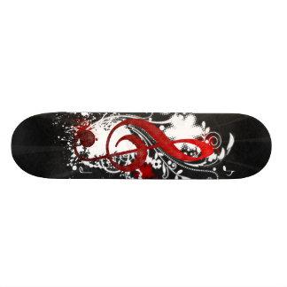 Cooler Musiknoten punktierte Wirbels-Blumen-Spritz 18,1 Cm Old School Skateboard Deck