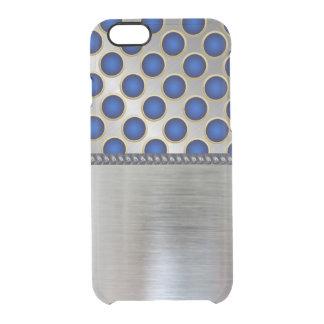 Cooler Muster iPhone Raum-Kasten des Silber-3D Durchsichtige iPhone 6/6S Hülle