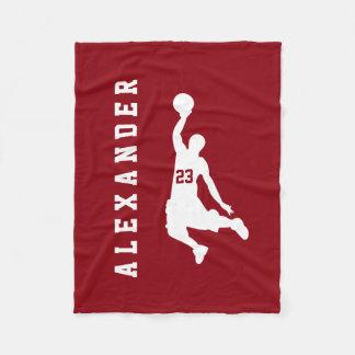 Cooler neuer Sport-roter Basketball-Spieler-Name Fleecedecke