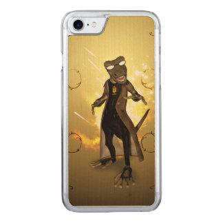 Cooler, niedlicher Gecko mit Sonnenbrillen Carved iPhone 8/7 Hülle