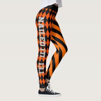 Cooler orange und schwarzer Entwurf Leggings