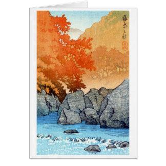 Cooler orientalischer Japaner Hasu Kawase Karte