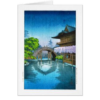 Cooler orientalischer Japaner Kameido Shrine Karte