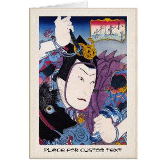 Cooler orientalischer japanischer kabuki karte