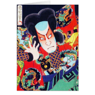 Cooler orientalischer japanischer kunichika karte