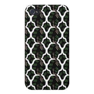 Cooler orientalischer japanischer Pfau abstraktes  iPhone 4/4S Hüllen