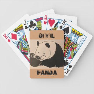 Cooler Panda mit Schatten Bicycle Spielkarten