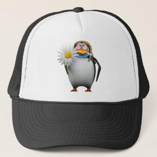 Cooler Penguin3d Hippy (editable) Truckerkappe