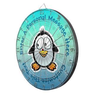 Cooler Penguin-Cartoon Dartscheibe