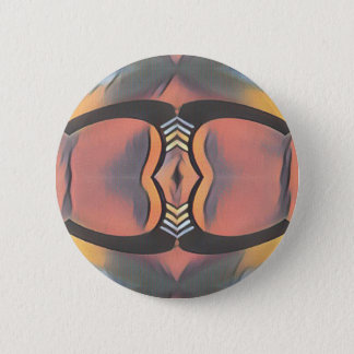 Cooler Pfirsich-graues modernes künstlerisches Runder Button 5,7 Cm
