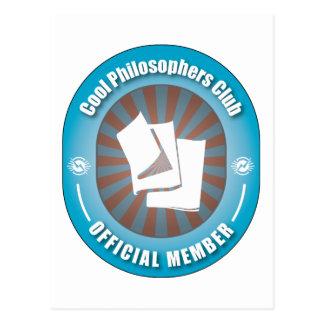 Cooler Philosophen-Verein Postkarte