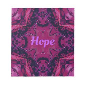 """Cooler Pop-magentaroter Lavendel-""""Hoffnungs-"""" Notizblock"""