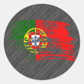 Cooler portugiesischer Flaggenentwurf Aufkleber