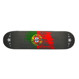 Cooler portugiesischer Flaggenentwurf Individuelles Skateboard