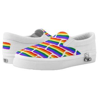 Cooler Regenbogen färbt Flaggen-Muster Slip-On Sneaker