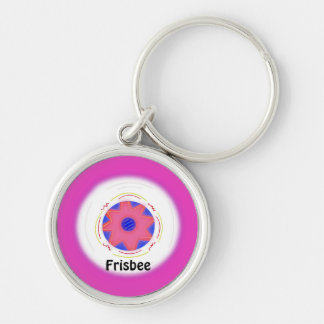 Cooler rosa Frisbee-Entwurf Schlüsselanhänger