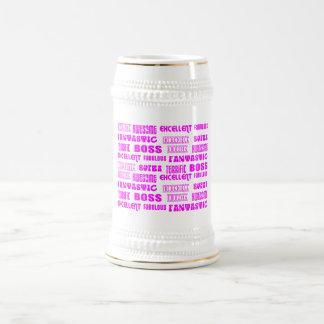 Cooler rosa moderner Entwurf für Chef-Positiv-Wört