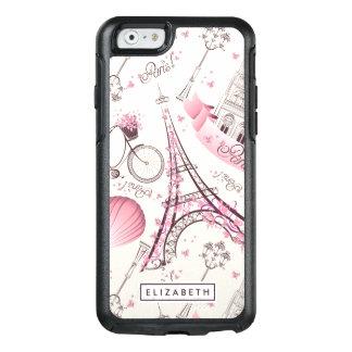 Cooler rosa Turm Paris Eiffel moderner OtterBox OtterBox iPhone 6/6s Hülle