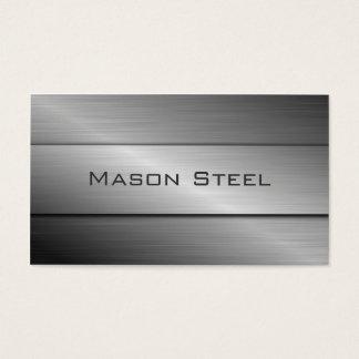 Cooler rostfreier Stahl-Effekt, Geschäfts-Karte Visitenkarte