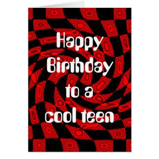 Cooler roter miserabeler abstrakter Geburtstag für Karte