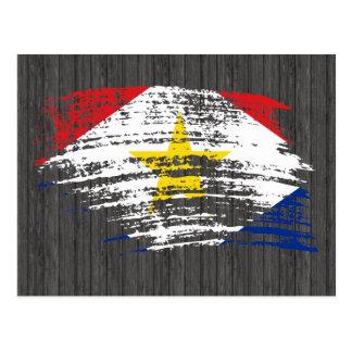 Cooler Saban Flaggenentwurf Postkarte
