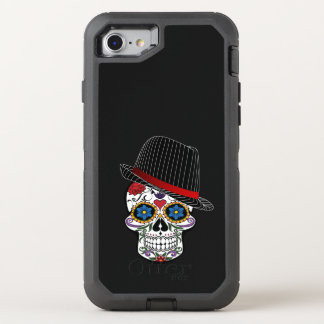 Cooler Schädel mit Hütte OtterBox Defender iPhone 8/7 Hülle