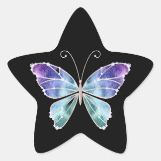 Cooler Schatten-Regenbogen Wings Schmetterling Sternaufkleber