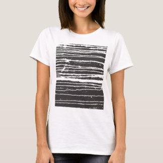 Cooler schwarzer Tinten-T - Shirt