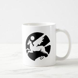 Cooler Schwarzweiss-Pegasus-Cartoon Kaffeetasse