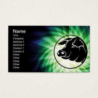Cooler Schwein-Kopf Visitenkarte