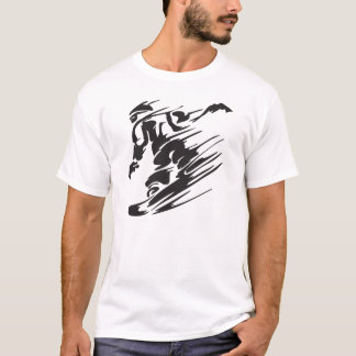 Cooler Silhouettesnowboard-GebirgsT - Shirt